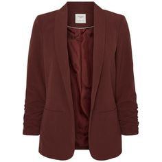 SHORT BLAZER Vero Moda ($48) ❤ liked on Polyvore featuring outerwear, jackets, blazers, short-sleeve blazers, red jacket, blazer jacket, short jacket and tall jackets