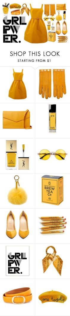"""""""GRL PWER"""" by citycoastalclothing ❤ liked on Polyvore featuring Oscar de la Renta, Hermès, Steven Alan, Chanel, Yves Saint Laurent, Fendi, Christian Louboutin, Stupell, WithChic and Cynthia Rowley"""