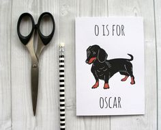 Dachshund Card. Personalised Pet Card. by DarwinDesignsCards, £2.60
