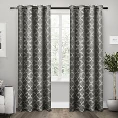 Your windows are worthy of these top pick contemporary curtains. So nice. Exclusive Home Cartago Room-Darkening Grommet Top Window Curtain Panel Pair