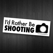 ID RATHER BE SHOOTING STICKER  $2.50 from www.backdropoutlet.com