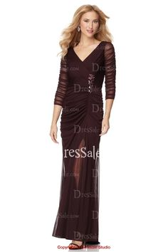Gorgeous Mother of the Bride Dress with Illusion Sleeves