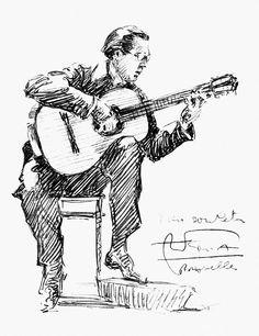 Andres Segovia by Granger