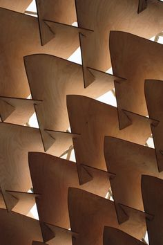 Dragon Skin Pavilion is a Digitally Fabricated Plywood Sculpture