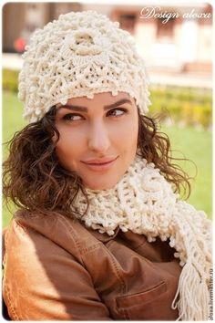 """Комплекты аксессуаров ручной работы. Ярмарка Мастеров - ручная работа """"English Rose""""шарф+шапка. Handmade."""