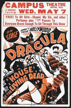 A vintage spook show poster,
