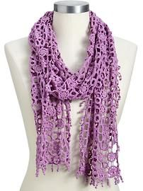 Gorgeous!!    Women's Pom-Pom Crochet Scarves