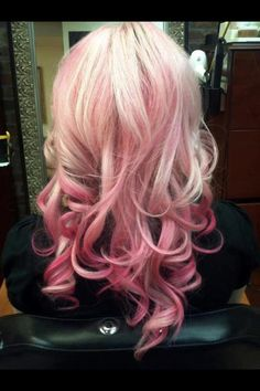 pink tinge and vibrant ends