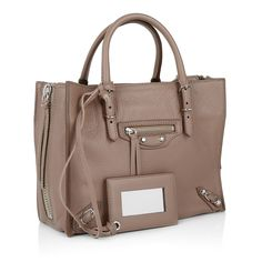 One of the everyday's favorite handbags you need: Balenciaga Paper A4 Zip Around Soft Side Zip Taupe. Fashionette.com