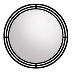 "Native Trails MR708 Asana Circular 31""H x 31""W Beveled Steel Mirror Black Home Decor Mirrors Wall"