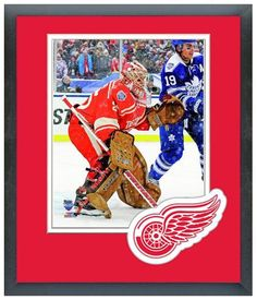 """Jimmy Howard 2014 NHL Winter Classic - 11""""x 14"""" Framed & Matted Photo Plus"""