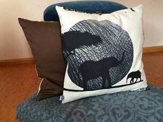 Kissenbezug 40 x 40 beige braun schwarz Afrika Elefanten Kissenhülle ohne Kissen | eBay
