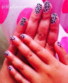 Mother and daughter leopard nails