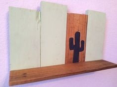 Rustic Wooden Pallet Cactus Shelf by CactusCreationsAZ on Etsy
