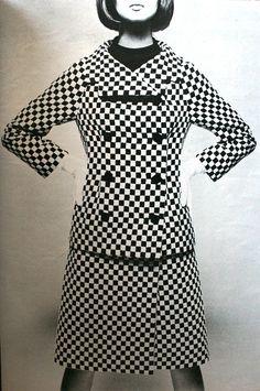 Marie Claire - September, Nina Ricci designer (via: thecarnabetianarmy) Sixties Fashion, Mod Fashion, White Fashion, Fashion Models, Vintage Fashion, Womens Fashion, Sporty Fashion, Retro Mode, Mode Vintage