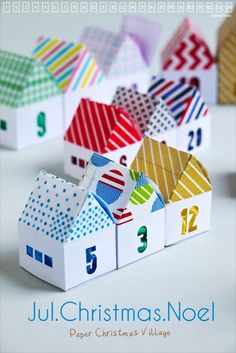 Jul.Christmas.Noel - Paper Christmas Village (Great way to also use the Create-and-Share Banks from Cokesbury!)