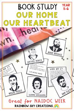 A set of print and go learning activities designed to support the book, 'Our Home, Our Heartbeat' by Australian Rapper Adam Briggs (known as Senator Briggs). Perfect for Years 5-6, these resources that can be used as a sequenced series of lessons or as individual tasks. Ideal to support units of work about our First Peoples, Australia, NAIDOC Week or simply as a book study. Learning Activities, Teaching Resources, Teaching Ideas, Primary Classroom, Primary School, Adam Briggs, Naidoc Week, Rainbow Sky, Australian Curriculum