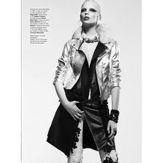 Chrystal Copland is Biker Chic for Kevin Sinclair In Vogue Portugal April 2013 found on Polyvore