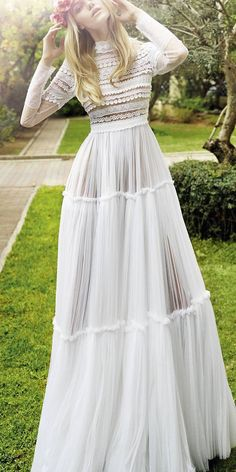 long sleeve bohemian wedding dresses 2