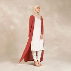 INAYAH | Crushed Coral #Kimono + White Crepe #Midi  White #Trousers  www.inayahcollection.com #inayahclothing #modeststyle #modesty #modestfashion #hijabfashion #hijabi #hijabifashion #covered #Hijab #jacket #midi #dress #dresses #islamicfashion #modestfashion #modesty #modeststreestfashion #hijabfashion #modeststreetstyle #modestclothing #modestwear #ootd #cardigan #springfashion #INAYAH #covereddresses #scarves #hijab #style