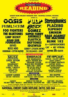 Reading Festival 2000 ~ Stereophonics, Placebo, Rage Against The Machine, Blink 182, Oasis, Slipknot, Eminem, Deftones and Muse