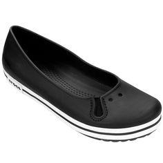 61dfe51fb4d8 Sapatilha Crocs Crocband Flat - Preto