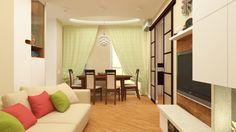 Interior design of a living room (Fen shui project)