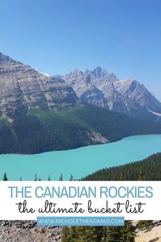 Are the Canadian Rockies on your bucket list? This is your guide to the ultimate 7-day road trip through the Canadian Rockies! This guide will help you in planning the best week-long trip to Banff National Park, Jasper National Park, and Yoho National Park.   canada road trip   canadian rockies road trip   canadian rockies photography   mountains road trip   alberta road trip   british columbia road trip   canada national parks   national parks road trip   western canada road trip Canada National Parks, Yoho National Park, Canadian Travel, Canadian Rockies, Visit Canada, Canada Trip, Columbia Road, British Columbia, Banff Canada