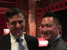 Sergio Troncoso and Viet Nguyen (author of The Sympathizer) at the Folger Shakespeare Library for the 2016 PEN/Faulkner Award in Washington, D. C.