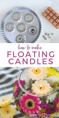 Craft Projects For Kids, Diy Crafts For Kids, Diy Projects, Outdoor Projects, Beeswax Candles, Diy Candles, Garden Candles, Floating Candles, Upcycled Crafts