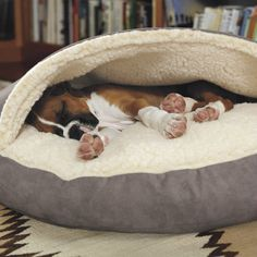 13 Products For Dogs Who Like To Shove Their Bodies Into Small Spaces Dog Cave, Diy Dog Bed, Dog Paintings, Dog Houses, Pet Beds, Dog Accessories, Dog Toys, Dogs And Puppies, Chihuahua Dogs