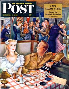 Saturday Evening Post, October 6, 1945 Artist: Alajalor  This lesser-known illustrator also did covers for the New Yorker and further covers for the Post.