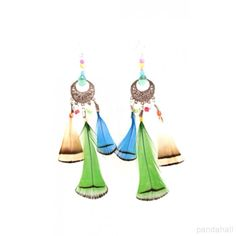 Handmade Neon Feather Earrings | PandaHall Beads Jewelry Blog