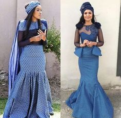 Tswana Traditional Wedding / Dresses And Wear ⋆ African Print Dresses, African Print Fashion, African Fashion Dresses, African Dress, African Wear, African Outfits, Ankara Fashion, African Wedding Dress Designers, African Wedding Attire