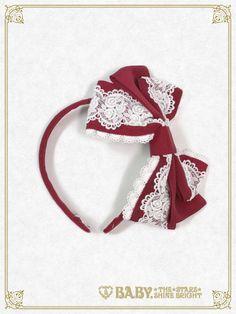 クラシカルロージィカチューシャ/Classical rosy head bow | BABY,THE STARS SHINE BRIGHT  3,888 yen / $38  3 colors (1 available)