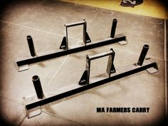 Metal Athletics Farmers Carry handles Boxing Gym, Kettlebell Training, Athletics, Farmers, Gym Equipment, Barn, Metal, Red, Converted Barn