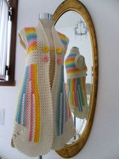 Crochet Jackets | Rahymah Handworks. I think I would change the colors, I love the design.