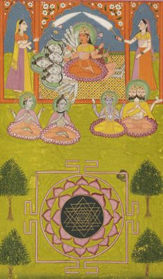 Parvati with Shri Chakra.