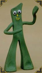 "I loved my Gumby!  He was about 6-8"" tall.  Used to play with it while I watched the show  :)"