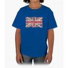 Uk Flag Distressed Young T-Shirt