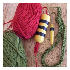 I'm quite sure French Knitting has kept many generations of children busy for hours at a time. I do remember that if any wooden cotton reel...