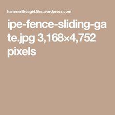 Sliding Gate, Horizontal Fence, Sliding Door