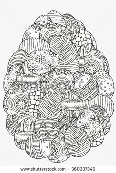 Stock Images similar to ID 380642170 - hand drawn vector easter egg...