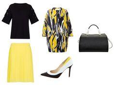 Look 'lady' en amarillo y negro de @Dee, @· ZARA ·, #Fosco y #BimbaLola Zara, Mango, Glamour, Polyvore, Fashion, Spring Looks, Vestidos, Trends, Elegant