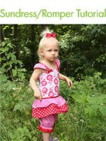 Tutorial for Girl's Sundress/Romper - 7 Layer Studio~ this is so adorably cute!!