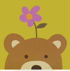 Peek-a-Boo VI, Bear Prints by Yuko Lau at AllPosters.com
