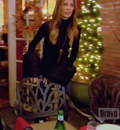 Carole Radziwill's Black Bell Sleeve Knit Top by Loeli Real Housewives of New…