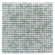 """Petite 0.38"""" x 0.38"""" Glass Mosaic Tile in Ice Cube"""