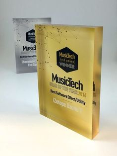 More of Creative Awards' custom made award for Music Tech Magazine.