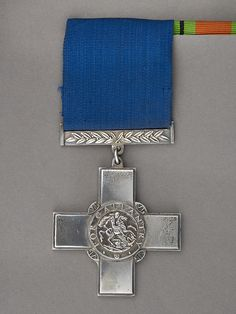 George Cross Medal awarded to Station Officer William Mosedale, 1941